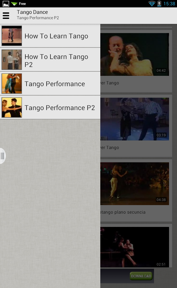 Học Tango qua videos